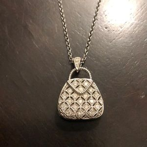 Jewelry - 👛 💎 14kt white gold purse charm and chain 💎 👛